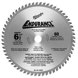 "Milwaukee® 6 1/2"" Alloy Steel Circular Saw Blade 9 Teeth Per Inch | Tuggl"
