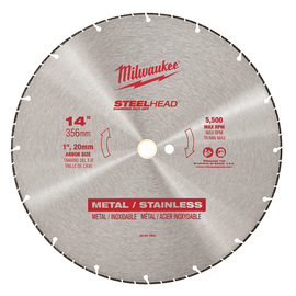"Milwaukee® 14"" Steelhead Diamond Cut Cut Off Blade 5 Teeth Per Inch | Tuggl"