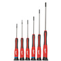 Milwaukee® 6 Red/Black Metal, Plastic And Rubber Precision Screwdriver Set