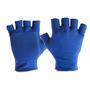 Impacto Protective Products Large Blue Cotton And Polyester Half Finger Anti-Impact Mechanics Gloves Liner