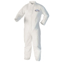 Kimberly-Clark Professional* Large White KleenGuard* A40 Film Laminate Disposable Liquid And Particle Protection Bib Overalls/Coveralls