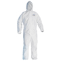 Kimberly-Clark Professional* 3X White KleenGuard* A40 Film Laminate Disposable Liquid And Particle Protection Bib Overalls/Coveralls