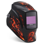 Miller® Digital Elite™ Inferno™ Black/Red Welding Helmet With Variable Shades 3, 5 - 13 ClearLight™ Lens Technology Auto Darkening Lens