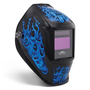 Miller® Digital Performance™ Blue Rage™ Black/Blue Welding Helmet With Variable Shades 3, 5 - 13 ClearLight™ Lens Technology Auto Darkening Lens