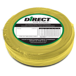 Direct Wire & Cable #2 Yellow Flex-A-Prene Welding Cable 50' Shrink Pack