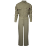 National Safety Apparel® Large Long Tan TECGEN® OPF Blend 8 cal/cm² Flame Resistant Coverall With Zipper And Snaps Closure