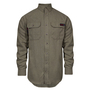 National Safety Apparel® Large Tan TECGEN® OPF Blend Knit 8 cal/cm² Flame Resistant Work Shirt With Button Closure
