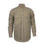National Safety Apparel® Large Tan TECGEN CC™ OPF Blend 9.3 cal/cm² Flame Resistant Work Shirt With Button Closure