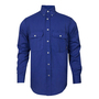 National Safety Apparel® 2X Royal Blue TECGEN CC™ OPF Blend 9.3 cal/cm2 Flame Resistant Work Shirt With Button Closure