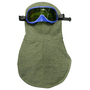 National Safety Apparel® One Size Fits Most Olive Green Para-Aramid OPF Blend 27 cal/cm² Flame Resistant Balaclava/Goggle