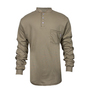 National Safety Apparel® Large Khaki TrueComfort® 8.9 cal/cm² Flame Resistant Long Sleeve Henley