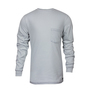 National Safety Apparel® Medium Gray Classic Cotton™ 12 cal/cm² Flame Resistant Long Sleeve T-Shirt