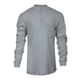 National Safety Apparel® 2X Gray Classic Cotton™ 12 cal/cm² Flame Resistant Long Sleeve Henley