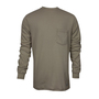 National Safety Apparel® Medium Khaki Classic Cotton™ 12 cal/cm² Flame Resistant Long Sleeve T-Shirt
