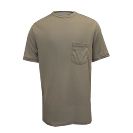 National Safety Apparel® X-Large Khaki Classic Cotton™ 12 cal/cm² Flame Resistant T-Shirt