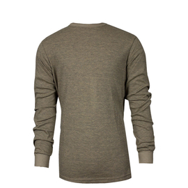 National Safety Apparel® Medium Tan TECGEN® OPF Blend Knit 13 cal/cm² Flame Resistant Long Sleeve T-Shirt