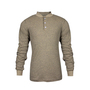 National Safety Apparel® Large Tan TECGEN® OPF Blend Knit 13 cal/cm² Flame Resistant Long Sleeve Henley
