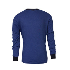 National Safety Apparel® Large Royal Blue TECGEN® OPF Blend Knit 13 cal/cm² Flame Resistant Long Sleeve T-Shirt