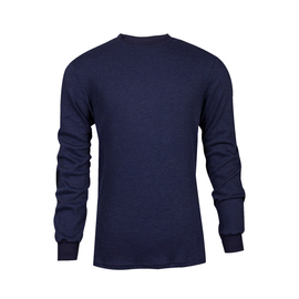 National Safety Apparel® Small Navy TECGEN® OPF Blend Knit 13 cal/cm² Flame Resistant Long Sleeve T-Shirt