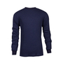 National Safety Apparel® Medium Navy TECGEN® OPF Blend Knit 13 cal/cm² Flame Resistant Long Sleeve T-Shirt