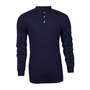 National Safety Apparel® 3X Navy TECGEN® OPF Blend Knit 13 cal/cm² Flame Resistant Long Sleeve Henley