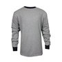 National Safety Apparel® Large Gray TECGEN® OPF Blend Knit 13 cal/cm² Flame Resistant Long Sleeve T-Shirt