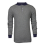 National Safety Apparel® Large Gray TECGEN® OPF Blend Knit 13 cal/cm² Flame Resistant Long Sleeve Henley