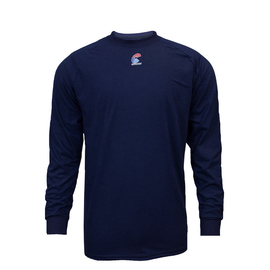 National Safety Apparel® Large Navy Modacrylic Blend 4.0 cal/cm² Flame Resistant Long Sleeve T-Shirt