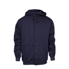 National Safety Apparel® X-Large Navy UltraSoft® 22 cal/cm² Flame Resistant Sweatshirt With Zipper Closure
