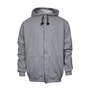 National Safety Apparel® 2X Gray Modacrylic Blend Fleece 28 cal/cm² Flame Resistant Sweatshirt With Zipper Closure
