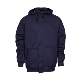 National Safety Apparel® Medium Navy Modacrylic Blend Fleece 28 cal/cm² Flame Resistant Sweatshirt With Zipper Closure