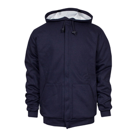 National Safety Apparel® X-Large Navy Modacrylic Blend Fleece 43 cal/cm² Flame Resistant Sweatshirt With Zipper Closure