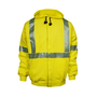 National Safety Apparel® 3X Fluorescent Yellow Modacrylic Cotton Blend 20 cal/cm² Flame Resistant Sweatshirt With Zipper Closure