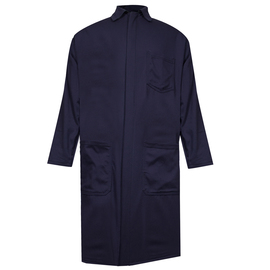 National Safety Apparel® Medium Navy UltraSoft® 12 cal/cm² Flame Resistant Coat With Snap Front Closure