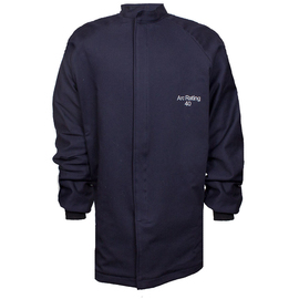 National Safety Apparel® X-Large Navy UltraSoft® 40 cal/cm² Flame Resistant Coat With Hook And Loop Closure