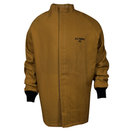 National Safety Apparel® 3X Caramel DuPont™ Nomex® Kevlar® 65 cal/cm² Flame Resistant Coat With Hook And Loop Closure
