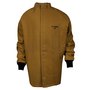 National Safety Apparel® Medium Caramel DuPont™ Nomex® Kevlar® 65 cal/cm² Flame Resistant Coat With Hook And Loop Closure