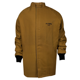 National Safety Apparel® Medium Caramel DuPont™ Nomex® Kevlar® 100 cal/cm² Flame Resistant Coat With Hook And Loop Closure