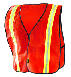 OccuNomix X-Large Orange Economy Value™ Light Weight Polyester Mesh Vest With Front Hook And Loop Closure