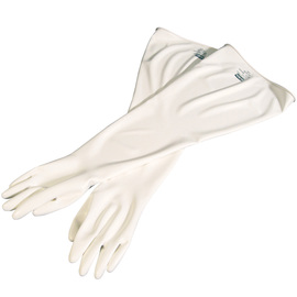Honeywell Size 9 3/4 White Glovebox 15 mil Unsupported Chlorosulfonated Polyethylene And Hypalon® Chemical Resistant Gloves