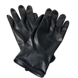 Honeywell Size 9 Black North® Butyl 13 mil Unsupported Butyl Chemical Resistant Gloves