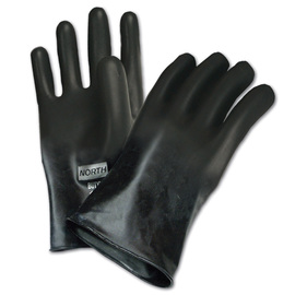 Honeywell Size 7 Black North® Butyl 16 mil Unsupported Butyl Chemical Resistant Gloves