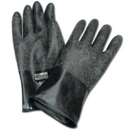 Honeywell Size 9 Black North® Butyl 16 mil Unsupported Butyl Chemical Resistant Gloves