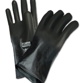 Honeywell Medium Black North® Butyl 25 mil Unsupported Butyl Chemical Resistant Gloves