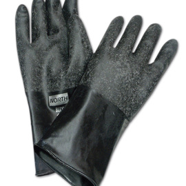 Honeywell Size 8 Black North® Butyl 32 mil Unsupported Butyl Chemical Resistant Gloves