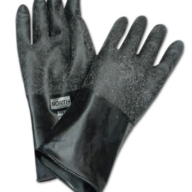 Honeywell Size 9 Black North® Butyl 32 mil Unsupported Butyl Chemical Resistant Gloves