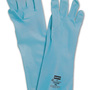Honeywell Size 8 Blue North® Flock Lined 15 mil Unsupported Nitrile Chemical Resistant Gloves