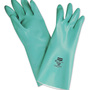 Honeywell Size 10 Green Nitri-Guard Plus™ Flock Lined 15 mil Unsupported Nitrile Chemical Resistant Gloves