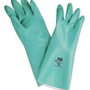 Honeywell Size 9 Green Nitri-Guard Plus™ Flock Lined 15 mil Unsupported Nitrile Chemical Resistant Gloves