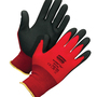 Honeywell Size 9 NorthFlex Red™ 15 Gauge Black Foam PVC Palm And Fingertip Coated Work Gloves With Red Nylon Liner And Knit Wrist